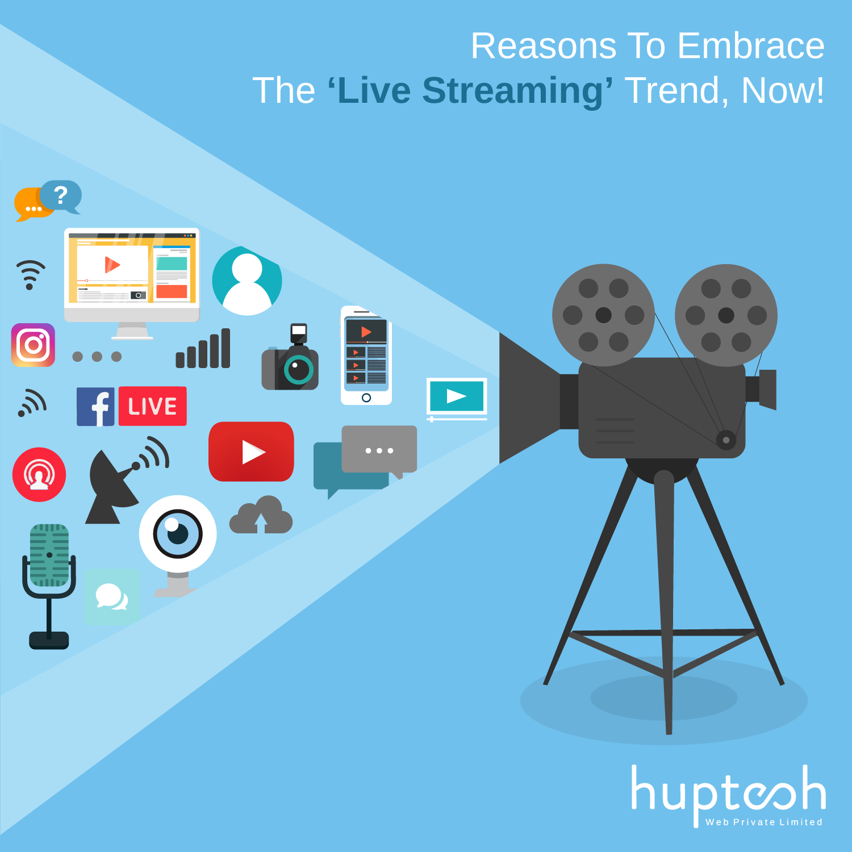 live stream huptech web