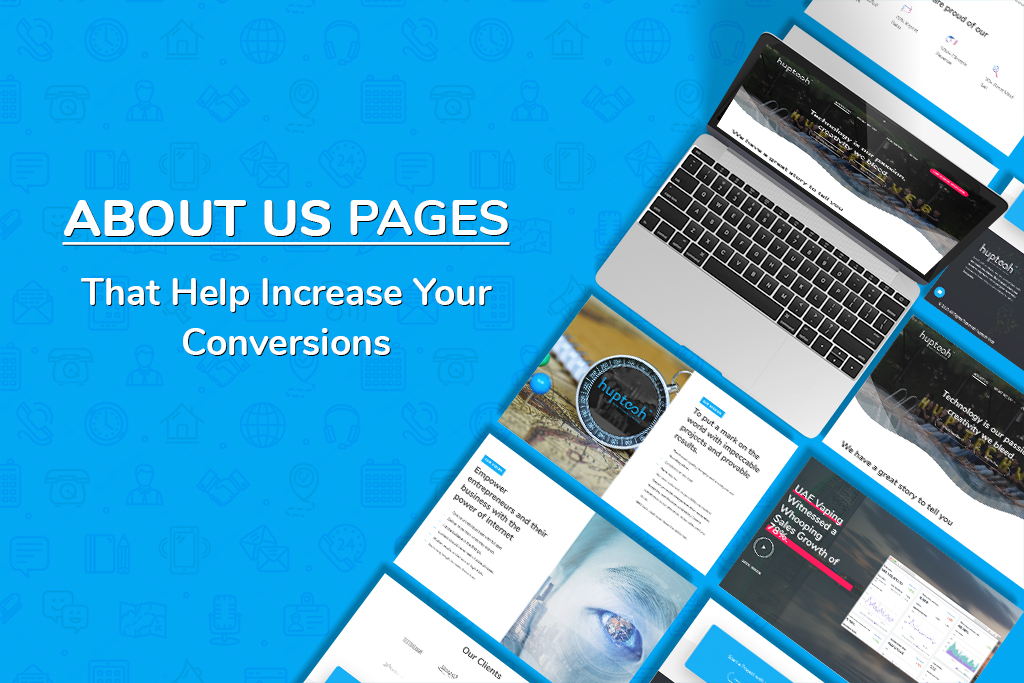 about us page to increase conversions