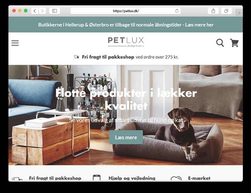 Petlux website