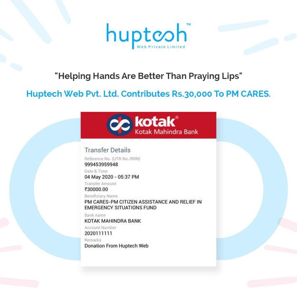 Huptech Donation for Corona